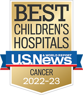 U.S.News & World Report 2019-20 Best Children's Hospital for Cancer Treatment